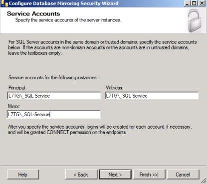 SQL Mirroring Setup11