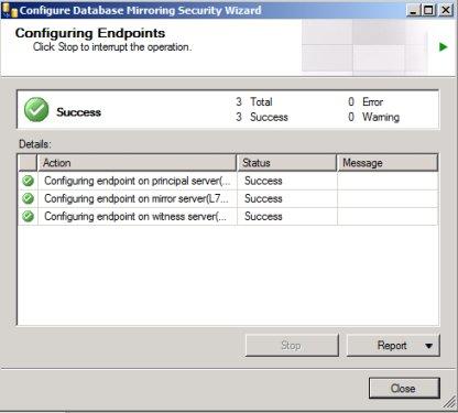 SQL Mirroring Setup12