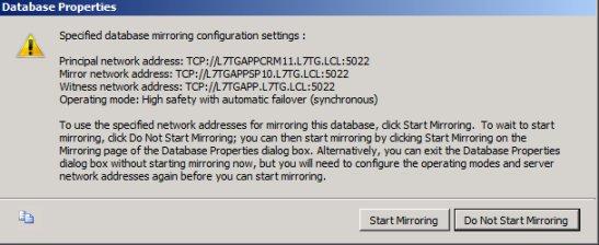 SQL Mirroring Setup13