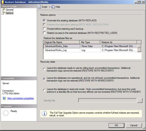 SQL Mirroring Setup
