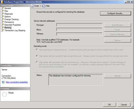 SQL Mirroring Setup4