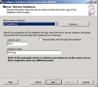 SQL Mirroring Setup9
