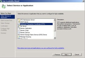Create Select DTC Service