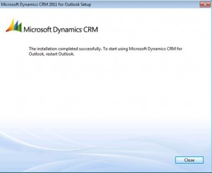 CRM 2011 Outlook Client Completion