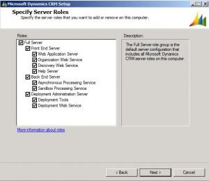 CRM Server Roles