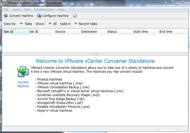VMware P2V conversion | Level 7 TechnoBlog