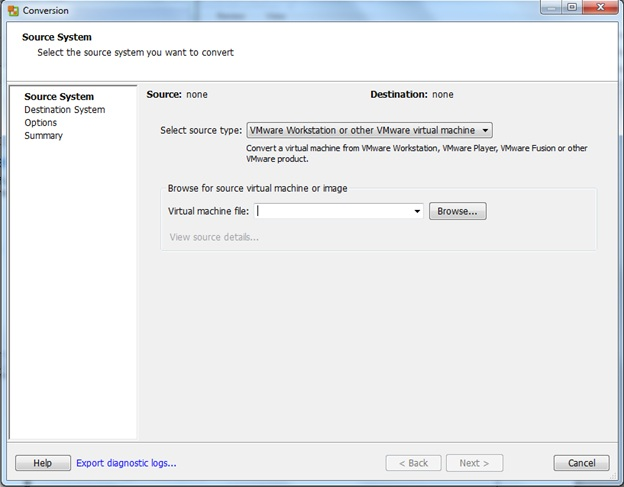 VMware P2V conversion   Level 7 TechnoBlog