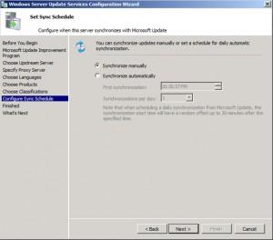Configure the synchronization schedule