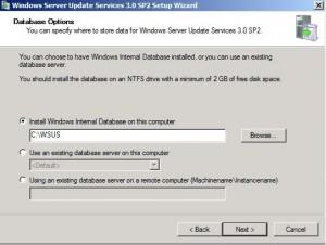 Use the Internal Database