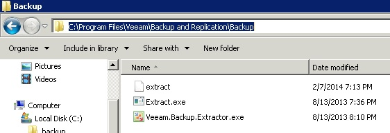 Veeam Extract